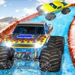 Monster Truck Water Surfing : Truck Racing Games