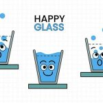 SMILING WATER GLASS
